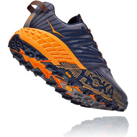 Hoka One One Speedgoat 4 Zapatillas Hombre, black iris/bright marigold